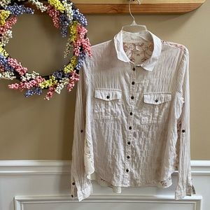 Free People 'Party in the Back' Button Down Top